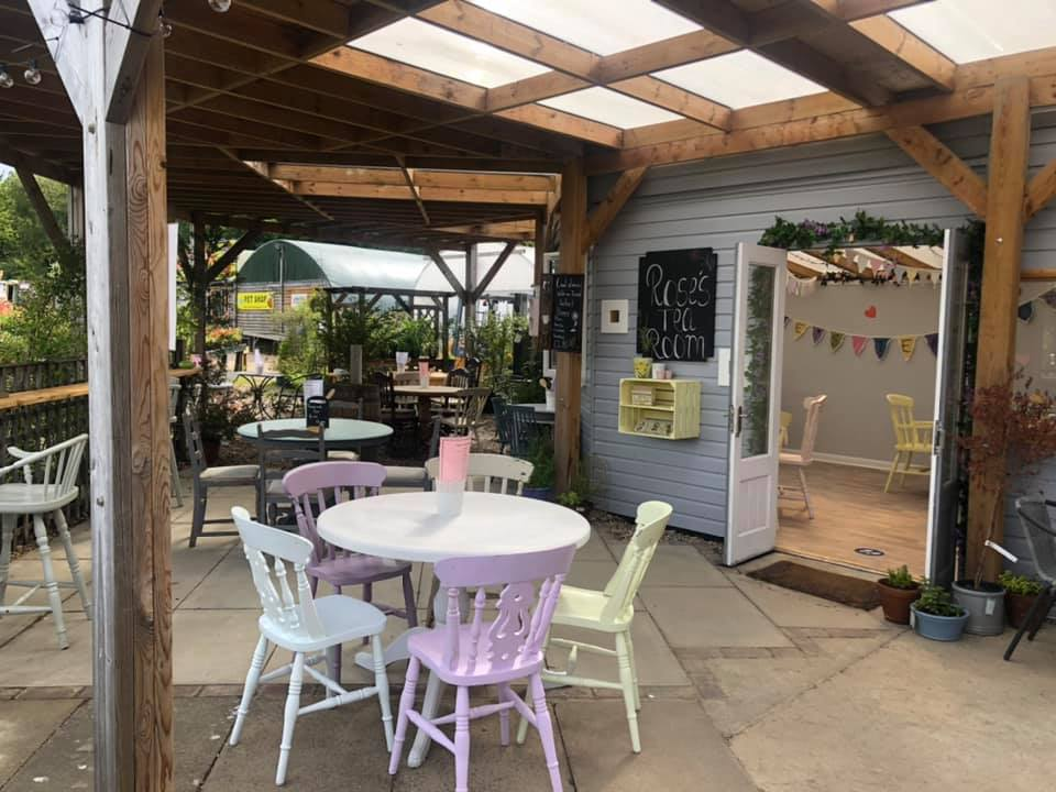 Rose's tea room re-opened July 2020